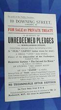 Political Comic Postcard 1914 10 DOWNING ST SALE Suffragette Pankhurst J REDMOND