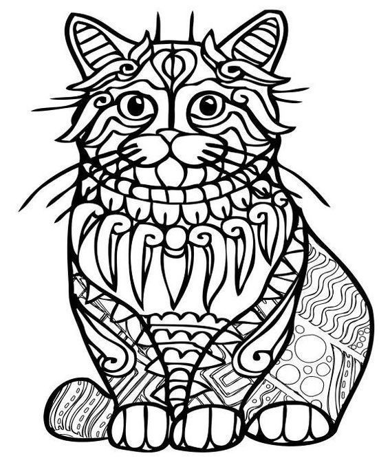 68 best Cats to color images on Pinterest | Coloring books ...