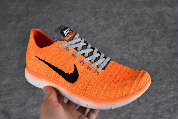 7769c2e52615 Nike Free Rn Flyknit Boys Shoe 2016 831070 800 Hot Lava Bright Citrus