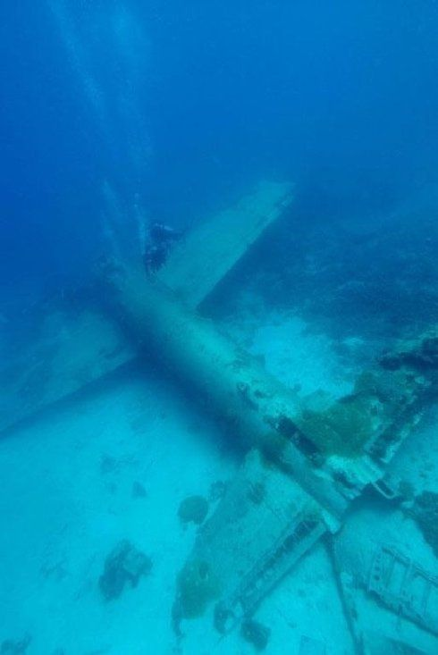 Sunken plane   Abandoned or Left Under Water   Pinterest