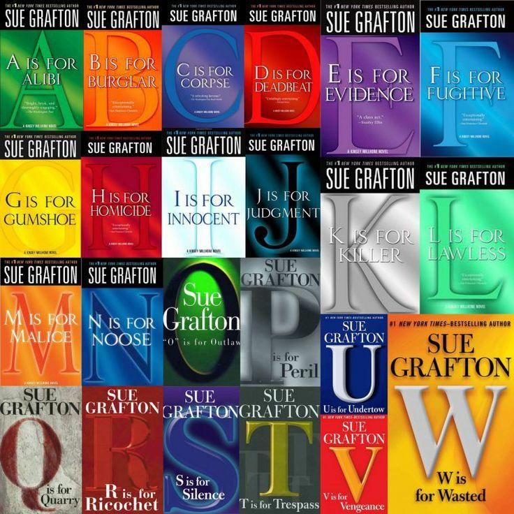 "Sue Grafton's ""Kinsey Millhone"" mystery series!"