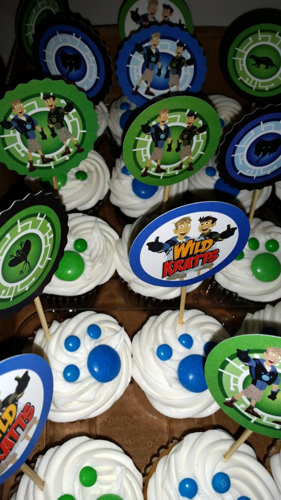 Hey, I found this really awesome Etsy listing at https://www.etsy.com/listing/203643246/wild-kratt-inspired-cupcake-toppers-set