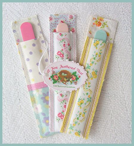 cute emery board sleeves, christmas gifts for next year?