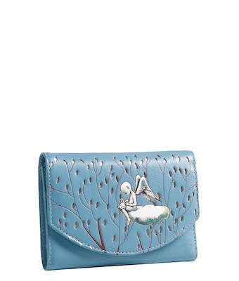 Mid wallet Spencer and Rutherford - Blue cloud
