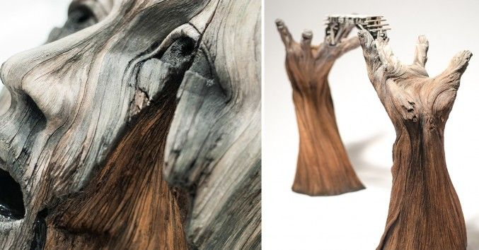 Trompe L'Oeil Ceramic Sculptures That Imitate The Natural Appearance Of Decaying Wood