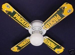 Ceiling Fan Designers 42FAN-NFL-GRB NFL Green Bay Packers Football Ceiling Fan 42 In. by Ceiling Fan This would be perfect for the my parents Packer Room