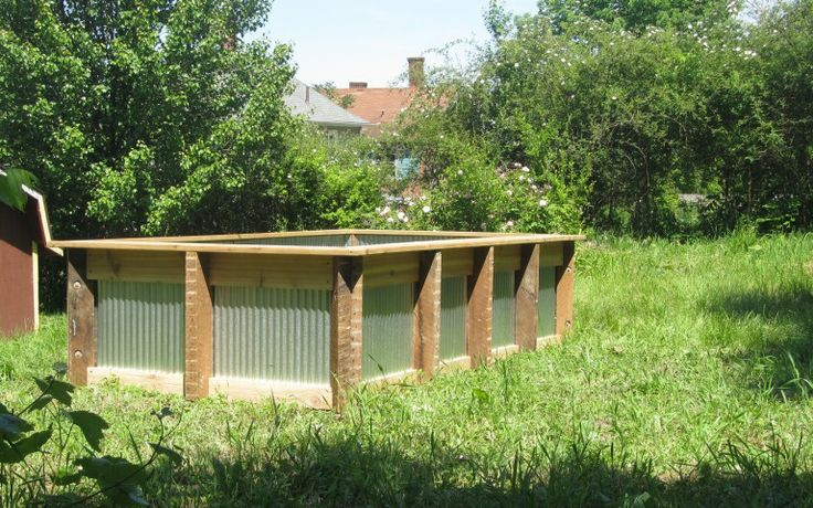 corrugated steel raised bed gardening modern