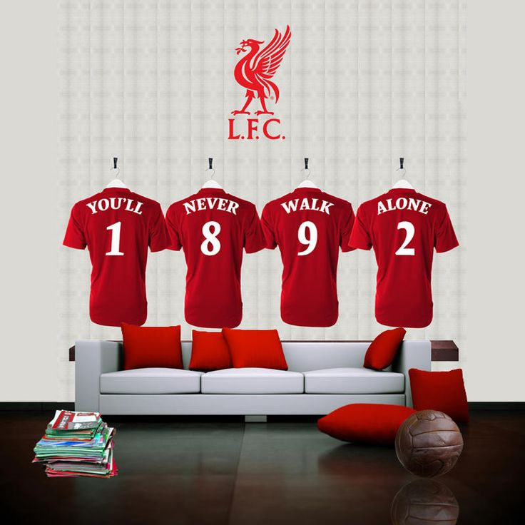 Liverpool Football Club dressing room heros wallpaper murals at sportswalls.co.uk, customise or upload your own images to create unique wallpaper.