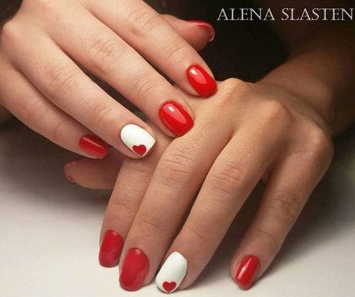 We Have Chosen Valentine S Day Nails And Are Ready To Share The Ideas With You New Heart Nail Designs Cute Red Pink February Love
