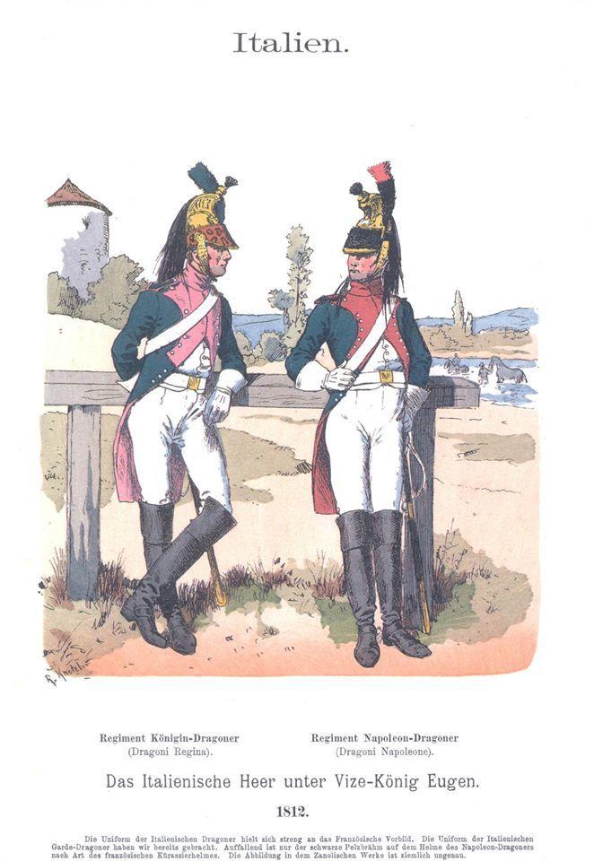 Band VI #42.- Italien. Das Italienische Heer unter Vice-König Eugen. Dragoner. 1812.