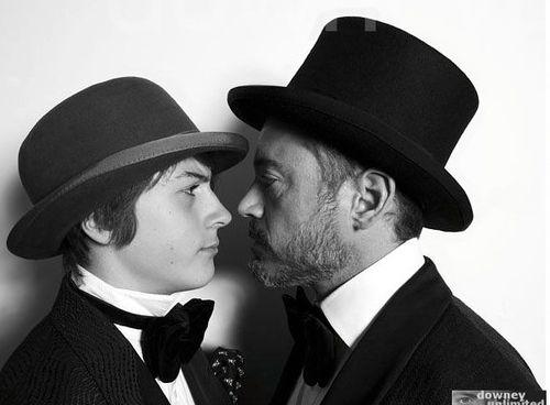 Robert Downey Jr. and his son Indio