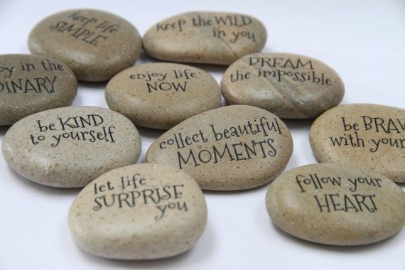 MESSAGE STONES Motivational Stones Affirmative by DOLITTLECRAFTS