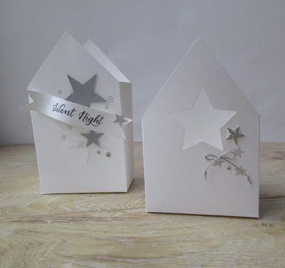 Kleine Häuser aus Metall, Beton oder Holz sind derzeit im Dekorationsbereich sehr angesagt. Und weil ich diesen Trend ebenfalls mag, gibt´s bei mir heute Häuser aus Papier zu sehen:)... Man könnte