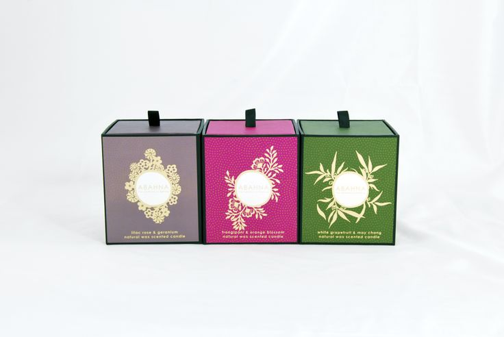 http://www.oysteruk.com Oyster produce the full range of Abahna cosmetic, fragrance, candle and essential oils boxes.  We are in our sixth year of working with Abahna and have developed their latest designs shown here.  The boxes are supplied erect, often with inserts to hold and present products and then they are used to display in store or to be sent by mail order.  The boxes are made from 1500micron solid board and covered with laminated full colour imagery and foiled branding.