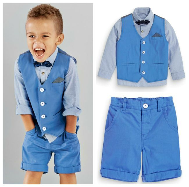 Cuteness alert! Check out these linen page boy suits and shorts - they're ideal for a summer wedding or destination wedding | See more on http://www.youmeantheworldtome.co.uk/saturday-shopping-edit-page-boy-suits-shorts/ Image via @Next
