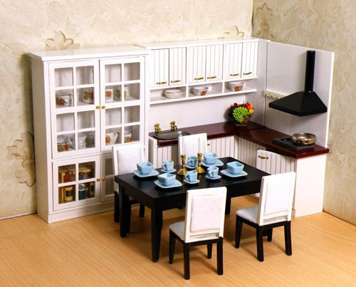 Cheap set tool, Buy Quality set kit directly from China furniture set up Suppliers:  Name:  free shipping 1/12 hot sale white wooden miniature dollhouse furniture modern fashion kitchen set