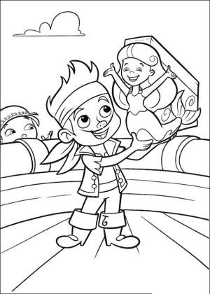 Jake and pirates coloring page 18