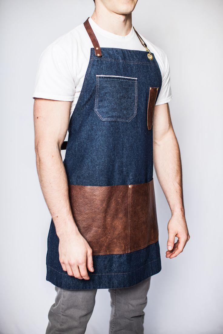 denim leather apron - mens - carpenter - wood - woodworker - madeinusa…