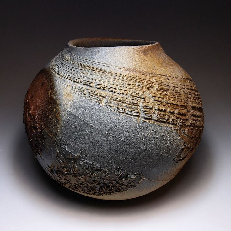 Tom Charbit (Balazuc, France) - Tsubo, stoneware, wood-fired 26 hrs. Facebook post on 11/3/2013