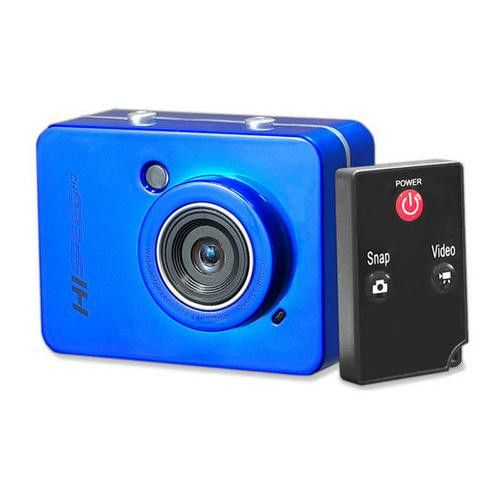 Hi-Speed HD 1080P Action Camera Hi-Res Digital Camera/Camcorder with Full HD Video, 12.0 Mega Pixel Camera & 2.4'' Touch Screen (Blue Color)
