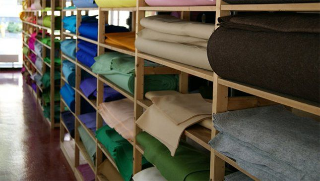 Our 1mm thick HOLLANDFELT ready to be made-to-measure and shipped to our customers