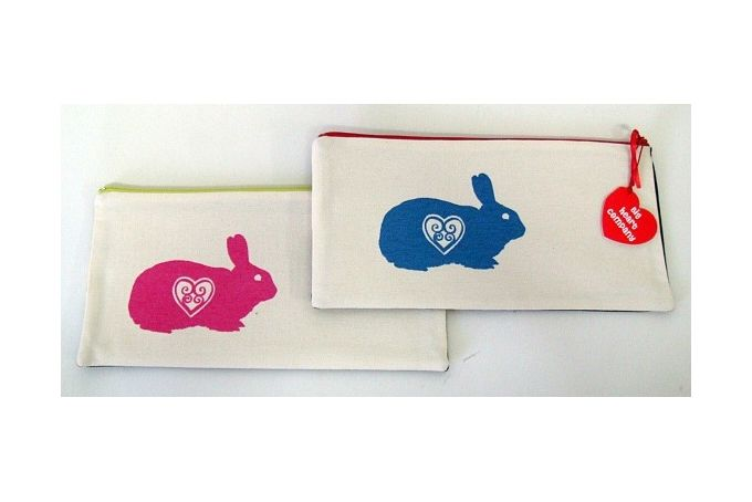 Printed pencilbag - BUNNY by Big Heart Company