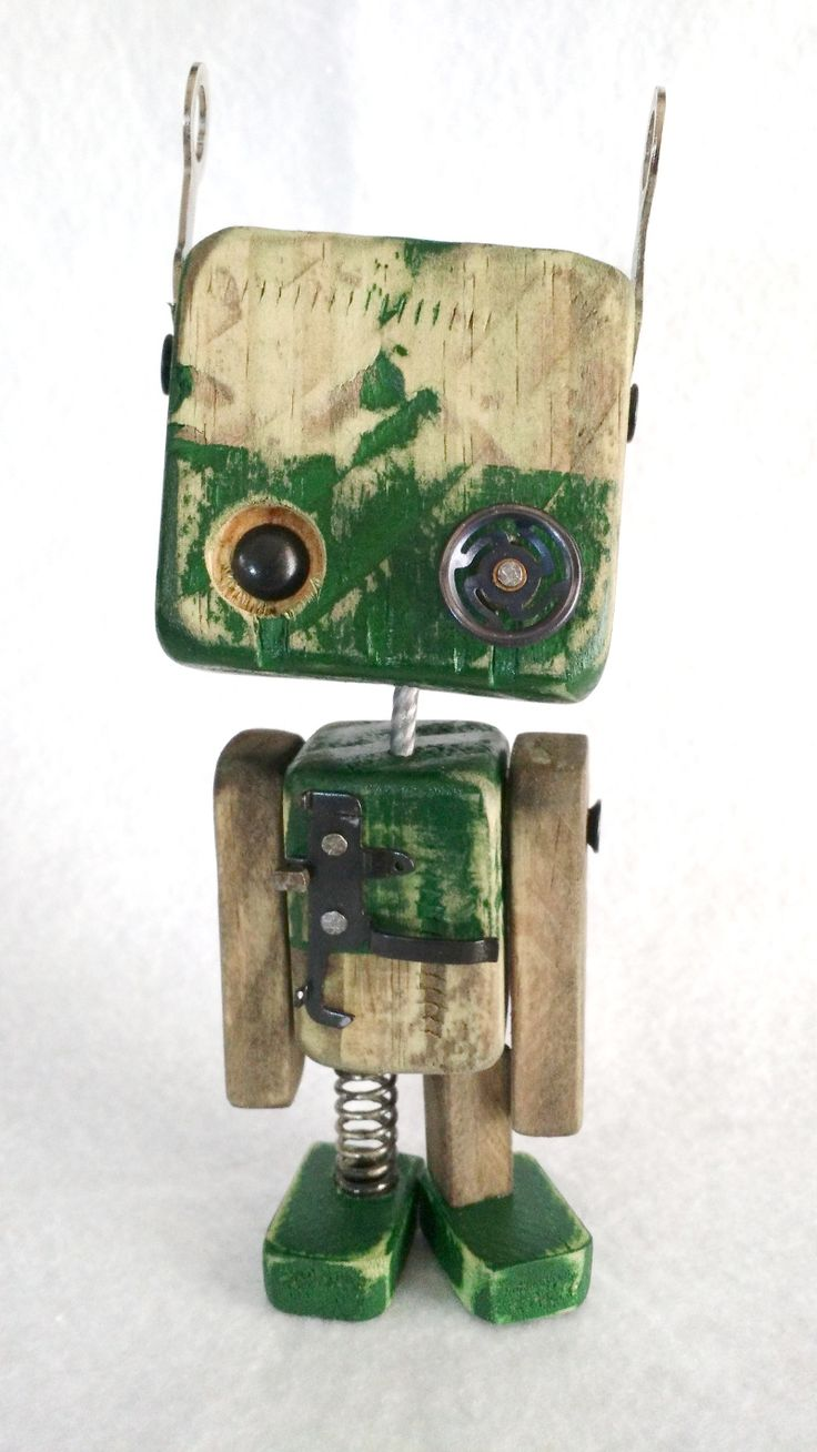 Série Robos em medeira – Wood Robots – 004