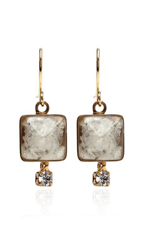 zsazsasitlist:  designer: Marni details here:Marni Stone Drop Earrings