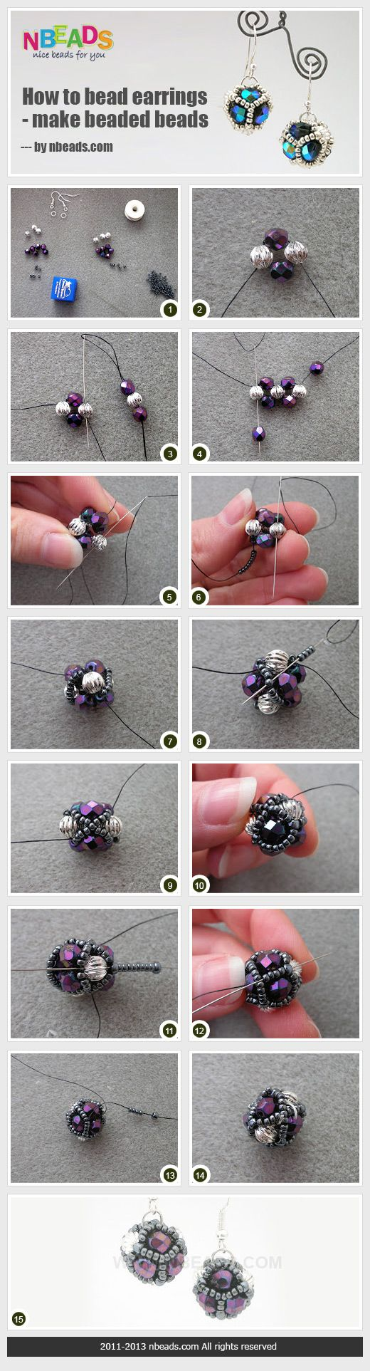 how to bead earrings - make beaded beads