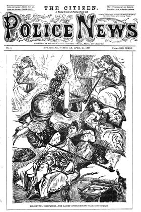 Police magazine in 1877 showing the problem of lose woman in the Opium Dens in Little Bourke Street, Chinatown Melbourne. #twistedhistory #melbournemurdertours