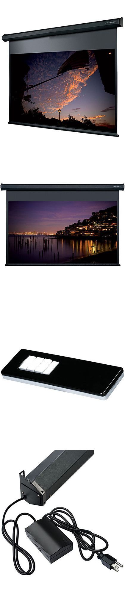 Projection Screens and Material: 150 Motorized Projector Screen 4:3 White Matte Remote Home Theater Projection BUY IT NOW ONLY: $935.64 #hometheaterprojector