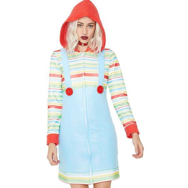 Adult Rag Doll Costume ($45) ❤ liked on Polyvore featuring costumes, adult doll costume, babydoll costume, baby doll costume, leg avenue costumes and leg avenue