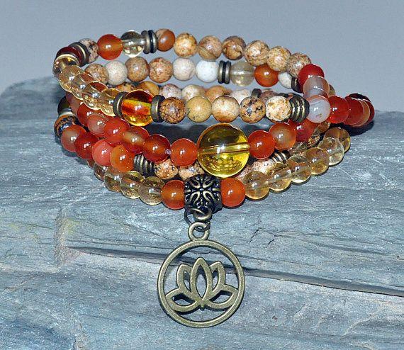 Vitality,Energy 108 Mala necklace,wrist mala,meditation mala,citrine mala,gemstone wrap mala,mala bracelet,healing mala gemstone,buddha mala