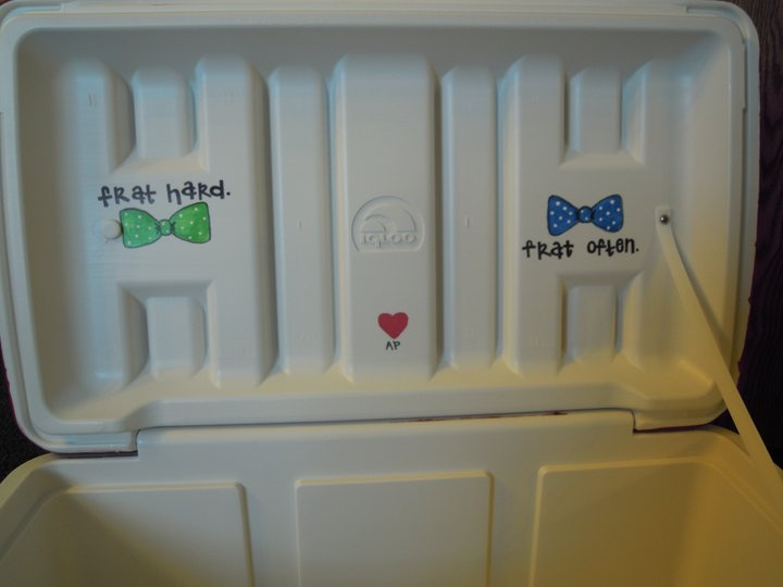Simple and cuteInside Simple, Inside Of Coolers, Coolers Koozies, Simple Frat, Crafty Coolers, Frat Hard Frat Often, Coolers Kappa Sigma, Cute Ideas, Coolers Ideas