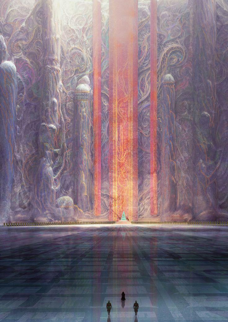 Dune Messiah, Muad'hib throne room, Marc Simonetti on ArtStation at https://www.artstation.com/artwork/X3ZzY