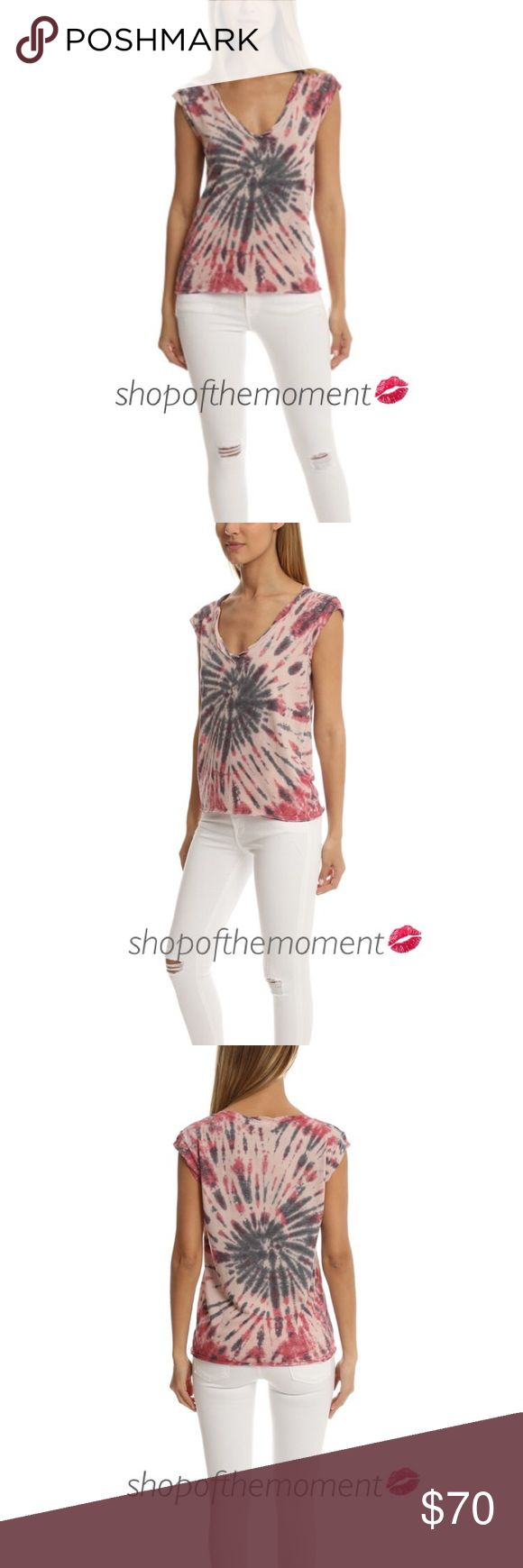 """🍭🆕Pam & Gela Tie Dye V Neck Tee in Grateful Dye Pam & Gela Tie Dye V Neck Tee in Grateful Dye  🍭🍭🍭🍭🍭🍭🍭🍭🍭🍭🍭🍭  Sun faded tie dye adds beach ready style to a lightweight muscle tee with a deep crinkled V-neckline.  Fabrication: Cotton jersey 50% polyester/37% cotton/13% rayon Made in the glamorous USA, baby! 🇺🇸  Approximate Measurements: Length: 24""""  🍭🍭🍭🍭🍭🍭🍭🍭🍭🍭🍭🍭  ✗ Drama ✗ Trades ⚡️Fast Shipper ☆☆☆☆☆ 5 star seller  💋 Smooches, D Pam & Gela Tops Muscle Tees"""
