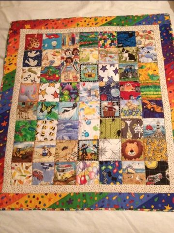 I Spy Blankets - lovely quilt idea for children