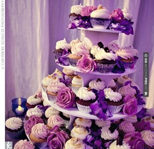 Sweet - cupcakes | CHECK OUT MORE GREAT PURPLE WEDDING IDEAS AT WEDDINGPINS.NET | #weddings #wedding #purplewedding #purpleweddingphotos #events #forweddings #iloveweddings #purple #romance #vintage #planners #ilovepurple #ceremonyphotos #weddingphotos #weddingpictures