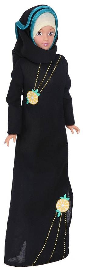 Muslim Barbie in an abaya and hijab
