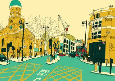 Hackney by Sweet View - print