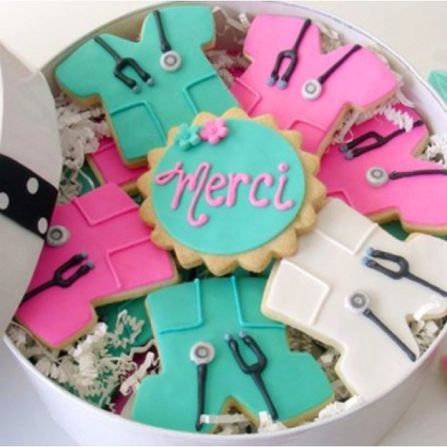 Nurse cookies :) For @Stacey McKenzie Tew and @Holly Elkins Prescott