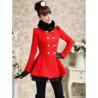 Palton Donna Red