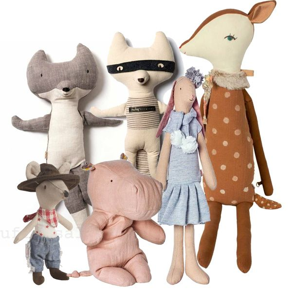 Maileg soft toys, bunnies and mice