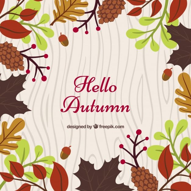 Free vector Autumnal background with colorful elements #22581
