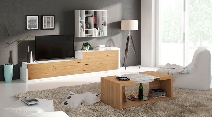 programa modular de muebles de salón y dormitorios, composiciones de pared TV, sinfonier, comodas, bufet, mesa, sillas, cabezales