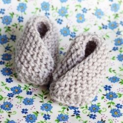 These sweet knit booties take almost no time to whip up. Their tiny size make them the perfect congrats gift.