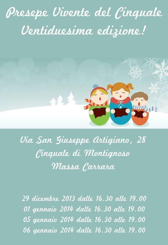 Presepe Vivente del Cinquale Domenica 29 Dicembre 2013 Mercoledì 1 Gennaio 2014 Domenica 5 Gennaio 2014 Lunedì 6 Gennaio 2014