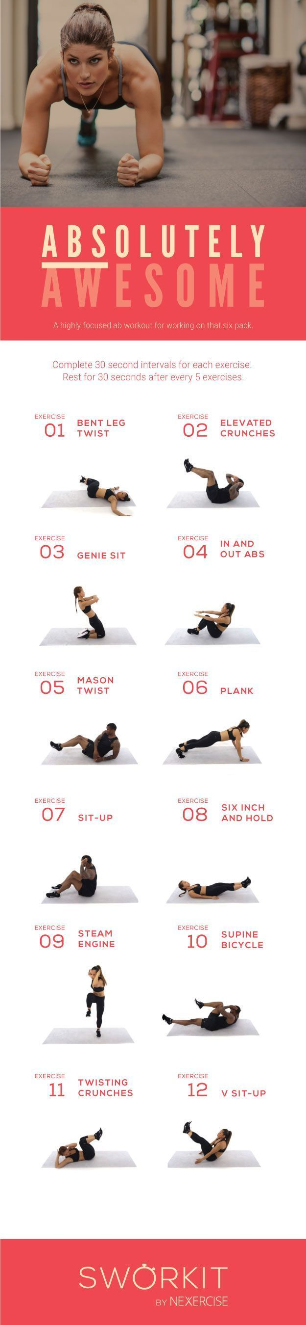 (Abs)olutely Awesome custom workout for Sworkit for iOS and Android. If you have...