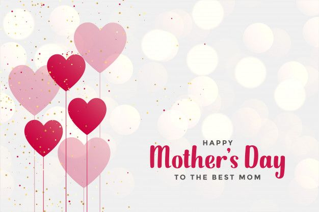 Download Happy Mother S Day Background With Heart Balloons For Free Heart Balloons Mother S Day Background Happy Mothers Day