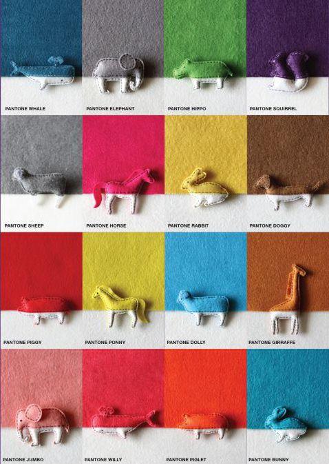 Pantone animal pins byThe Lorem Ipsum Store.